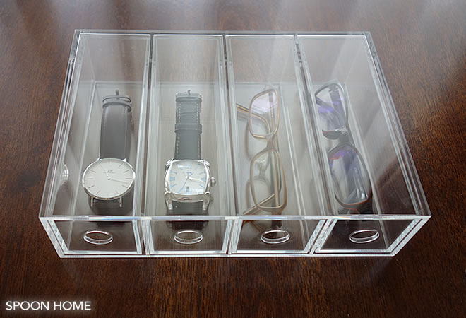 無印良品のアクリルメガネ・小物ケースのメガネ収納ブログ画像