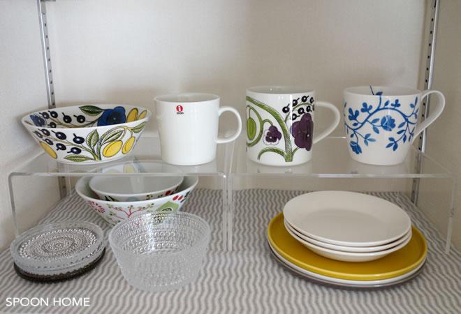 無印良品の収納グッズで食器棚整理のブログ画像
