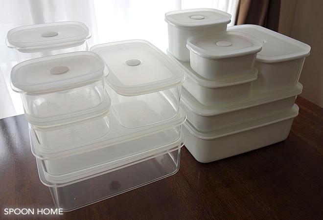 無印良品の保存容器(ホーロー・プラスチック)のブログ画像