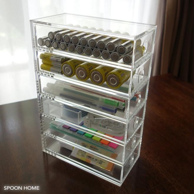 乾電池のおしゃれな収納方法のブログ画像
