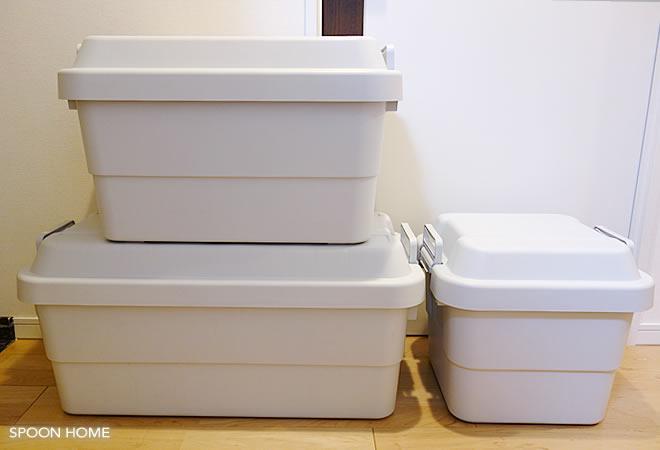 無印良品の買ってよかった商品「ポリプロピレン頑丈収納ボックス」のブログ画像