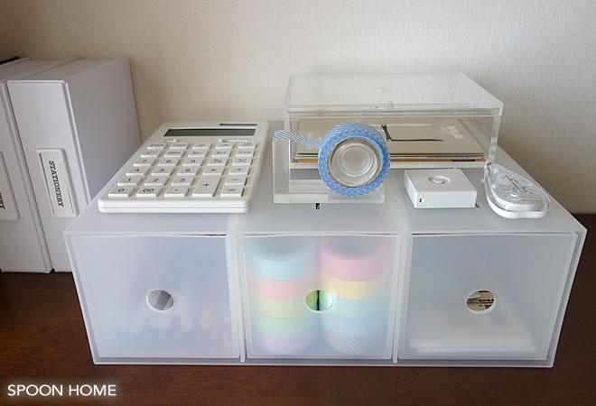 ポリプロピレン小物収納ボックス3段・A4タテ(2,000円)