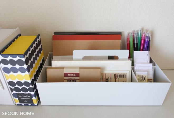 「キャリーボックス」は、こんなふうにふたのついた、箱型の収納です。