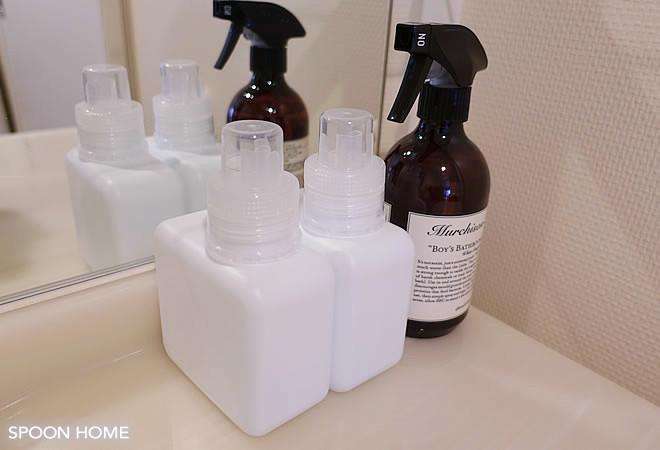 セリアのおしゃれな詰め替え容器・入浴剤ボトルのブログ画像