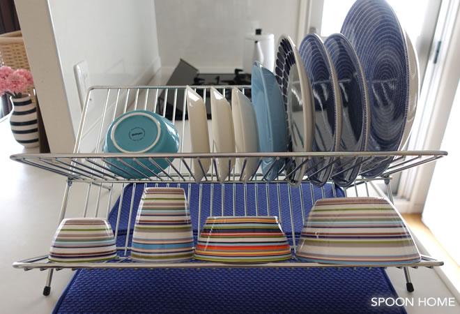 IKEAのKVOT水切りラックが折りたたみ式で便利。キッチン収納例を ...