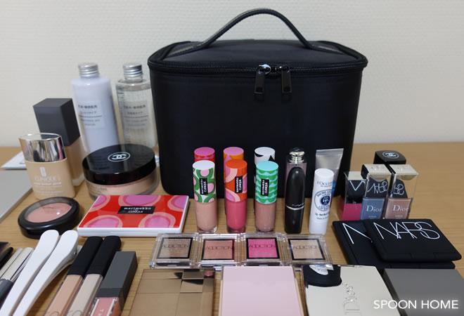 huge discount 07f47 984da 無印良品・ナイロンメイクボックスの使い方。化粧品の収納実例を ...