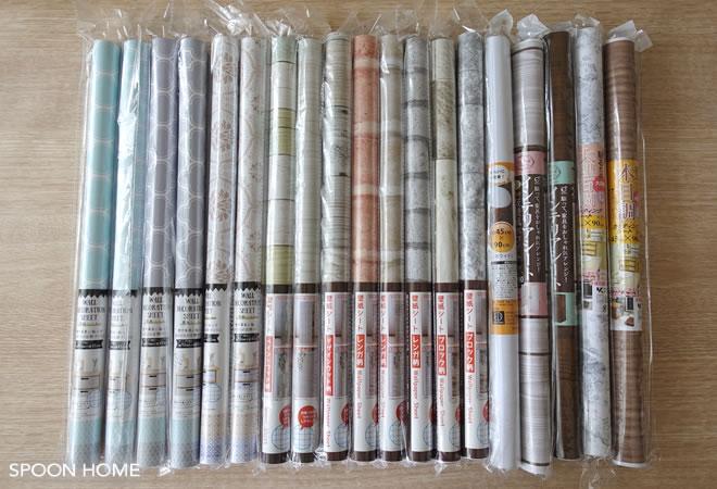 100均キャンドゥリメイク壁紙シートの種類やサイズ木目やタイル