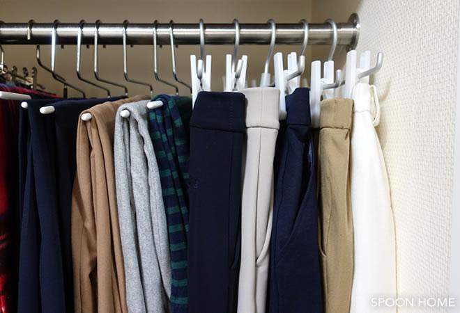 ズボンの収納アイデア。無印良品とニトリのハンガーがおすすめ